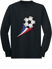 USA Team Soccer Ball American Flag Cute Toddler/Kids Long sleeve T-Shirt Gift