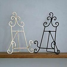 NEW VINTAGE STYLE METAL RECIPE COOK BOOK STAND HOLDER - CREAM OR BLACK