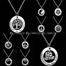 Forever In My Heart Mom Sister Pendant Necklace Family Words Fashion Women New