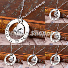 Forever In My Heart Circle Heart Mom Sister Grandma Family Gift Pendant Necklace