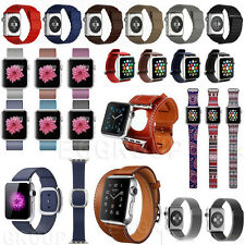 Newest Milanese Magnetic  Leather Loop Strap Watch Band For Apple Watch 38/42MM