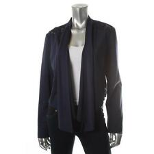 INC Navy Blue Lace Back Flyaway Open Front Jacket Top Blazer S - NEW