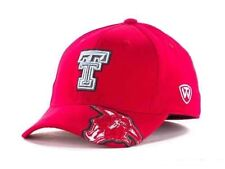 Texas Tech Red Raiders NCAA Top of the World RED Stretch Fitted Cap Hat - OSFM