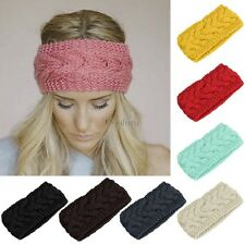 Winter Women Flower Hairband Headband Knit Fashion Crochet Ear Warmer Headwrap