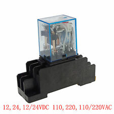 12-220V 5A Coil Power Relay JQX-13F MY3NJ HH53PL 11Pins 3PDT