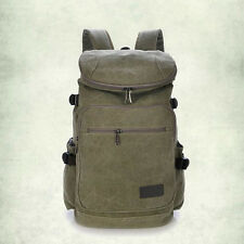 Unisex Canvas Backpack Laptop Shoulder Bag Travel Hiking Bag Waterproof Rucksack
