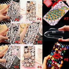 Luxury Bling Diamonds Crystal Soft Back TPU Case Cover Skin For Apple Samsung