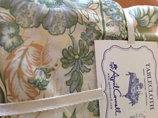 APRIL CORNELL TABLECLOTH YELLOW BLUE GREEN FLORAL FLORAL  60 X 84 NWT