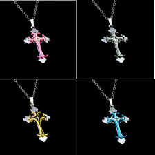 Pendant Cross Women's Necklace NEW Stainless Steel Jewelry Chain Men Gift