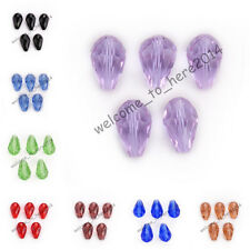 10x15mm Glass Crystal Charm Teardrop Spacer Loose Beads Findings 52 Colors