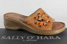 Sally O'Hara Ladies Slippers Sandals Genuine leather brown NEW