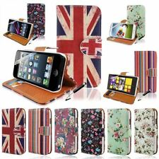 New Colour Wallet Stand Phone Case Cover For Various Mobile+Screen Guard+Stylus