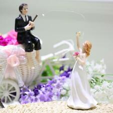 Western Style Synthetic Resin Bride & Groom Wedding Cake Topper Party Decor R7I2