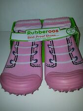 Toddler Girls Boys Rubberoos Shoes Pink or Navy Blue Sports Low Top Size 6 8