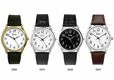 Limit Mens Gents Classic Leather Strap Watch Easy Read 4 Dial Choices RRP £19.99