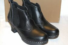 NEW! SWEDISH HASBEENS Hand Made Black VICTORIA Clog Ankle Boots 6 9 10 11 $389