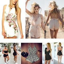 Summer Womens Sexy Mini Clubwear Jumpsuit &Romper Playsuit Bodycon Shorts Pants