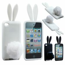 3d Cute Bunny Case Cover with Rabbit Stand Tail Soft Skin for Apple iPod Touch 4