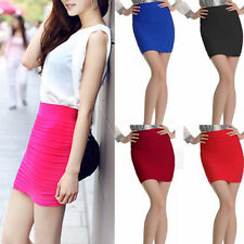 Quality first Colors Female Mini Skirt Slim Fit Seamless Stretch Tight Fitted441