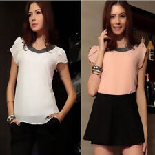 Tops Blouses New T-Shirt Plus Size Chiffon Hot Summer Women Casual Short Sleeve
