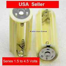 SERIES - Battery Adapter - Converts 3 AA Cells to 1 D size - outputs 4.5V  USA