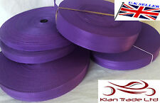 PURPLE 20 25 32 38 50mm POLYPROPYLENE WEBBING STRAPPING, BAGS, STRAPS, WEAVE