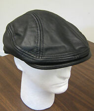 STW 515 Stetson Cap Leather Ivy Driver Oily Timber S/M or L/XL Brown or Black