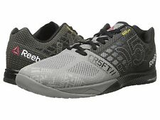 REEBOK CROSSFIT NANO 5.0 MENS 2015 FLAT GREY BLACK SHOES **FREE POST AUST