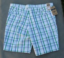 NWT $44 Dockers D2 Straight-Fit Flat Front Plaid Shorts  Size 32