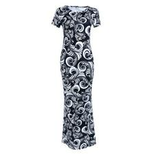 Sexy Women Short Sleeve Delicate Floral Print Evening Party Dress Maxi Hot Dress
