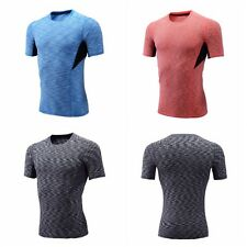 Mens Short Sleeve Skin Under Base Layer Compression Top Tight Sports T-Shirts