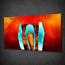 ABSTRACT AFRICAN MODERN ART CANVAS PRINT PICTURE MANY SIZES FREE UK P&P AF039