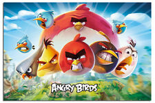 Angry Birds Key Art Poster New - Maxi Size 36 x 24 Inch