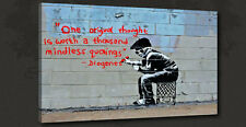 BANKSY THOUGHT GRAFFITI STREET CANVAS PRINT ART