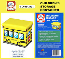 Global Decor Toy-Stor School Bus Children's Storage Container