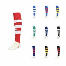 5 PAIRS OF SOCKS FOOTBALL or  RUGBY HOOPS - MACRON - Size from 31 to 50