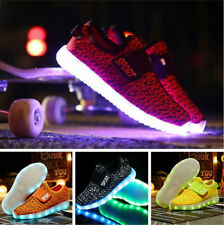 NEW Boys Girls Colorful LED Light Up Sport Flats Sneakers Kids party Baby Shoes