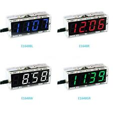 4-digit LED Digital Desktop Clock Electronic DIY Kit Light Control w/ Case S3E7