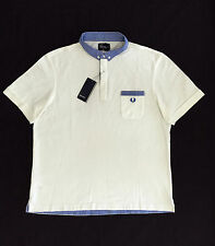 FRED PERRY Gingham Trim Pocket Men's Slim Fit Polo T Shirt Size. S -- M 2030