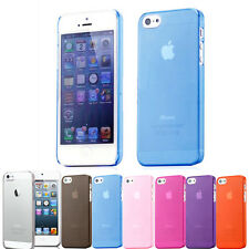 NEW STYLISH SLIM CRYSTAL CLEAR CASE COVER FOR APPLE IPHONE SE 5S 5 SCREEN GUARD