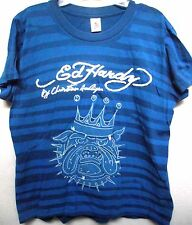 Ed Hardy Boys Blue Bulldog Patch   tee shirt premium shirt tee shirt top new