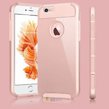 New Rugged Rubber Shockproof Hard Case Cover Skin for Apple iPhone Rose Gold