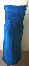 BNWT SIZE  24 SIMPLY BE COBALT BLUE FINE PLEAT STRETCHY STRAPLESS MAXI DRES 329