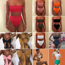 Women 2Pcs Summer Bikini Bandage Push-Up Swimwear Swimsuit Bathing Suit Beach