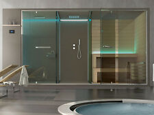 Hafro shower enclosure Ethos private wellness system complete with sauna shower