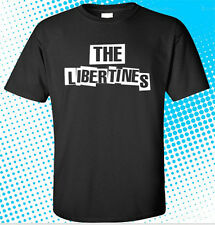 New The Libertines Logo Indie Rock Band Men's Black T-Shirt Size S to 3XL