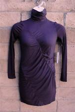 NWT $58 Simply Vera Wang Ruched Turtleneck Majestic Plum Dress Size PM