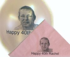 30 Personalised Photo Paper Napkins 40cm 3 Ply Birthday Colours Serviettes Party