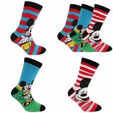 Disney Mickey Mouse Childrens Boys Official Patterned Socks (Pack Of 3)