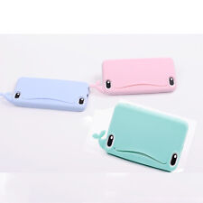 Cute Whale Silicone 3D Back Cover Card Holder Phone Cases  for iPhone 5 5s 1x